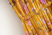 Accidental Yellow Wildflowers Bohemian Maxi Dress