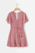 Chiffon Rural Short-sleeve Tie Dress