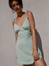 Avocado green backless sexy bell dress