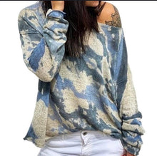 Women's Casual Round Neck Print Sweater
