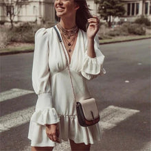 Cotton Ruffled White Mini Dress