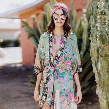 Cloud Dancer Long Sleeve Beach Maxi Kimono