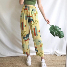 Women's Casual Pattern Printed Straight Trousers