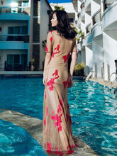 Dovechic Veil Embroidered Floor Beach Maxi Dress