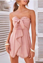 Cotton Wrapped Strapless Rompers