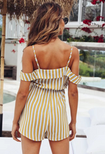 Yellow Striped Sling Rompers