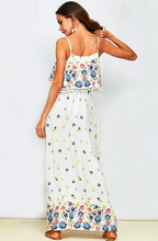 Cotton Bohemian Floral Pom-pom Dress