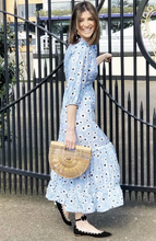 French Retro Daisies Midi Dress