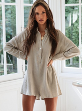 Loose Button Boho Shirt Rompers