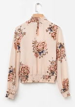 Chiffon Print Long Sleeve Top