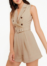 Cotton Vacation Sleeveless Button Romper