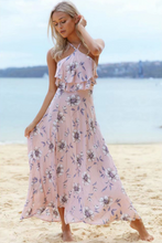 Fashion Beach Floral Halter Dress