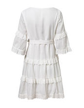 Cotton White Lace Holiday Tie Dress