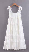 Cotton Vintage Sleeveless Beach Lace Dress