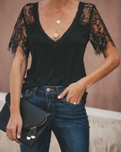 Street Fashion Black Lace T-shirts