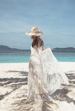 White Mesh Embroidered Beach Cover-ups