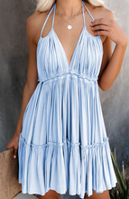 Backless Tassel Beach Boho Halter Dress-3color