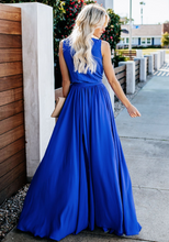 Bohemian Solid Color Holiday Maxi Dress-3color
