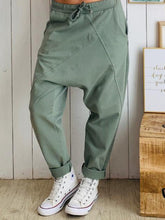 Solid Causal Loose Pockets Pants
