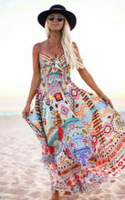 Boho Sleeveless Beach Maxi Dress