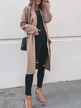 Fashion Solid Color Pocket Coat