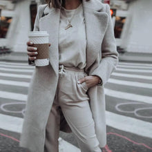 Stylish Pure Color Long Sleeve Coat