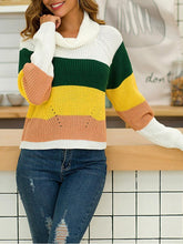 Long Sleeve Pullover Stitching Sweater