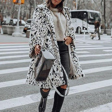 Women's Casual Turndown Collar Long Sleeve Printed Color Coat&Overcoat
