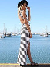 Dovechic Striped Backless Jumper Maxi Dress