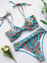 Dovechic Twist Knotted Strapped Bikini Swimsuit