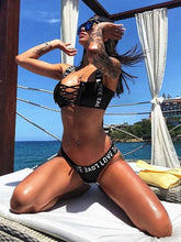 Dovechic Lace-up Bikinis Swimwear