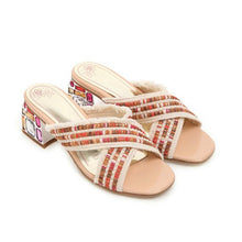 Knitted Beaded Coarse Sandals-2color