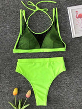 Dovechic Gauze High Waist Bikini Swimsuit
