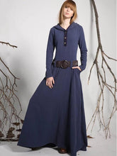 Dovechic Hooded Long Sleeves Belted Maxi Dress