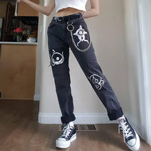 Women's Pattern Casual Straight Jeans