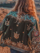 Casual Embroidered Long Sleeve Jacket