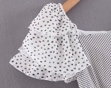 Chiffon Polka Dot Fluff Dress