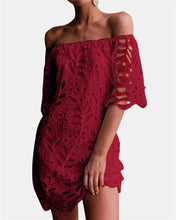 Fashion Lace Party Bardot Dress-4color