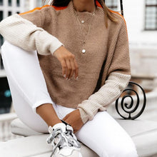 Contrast Stitching Pullover Knit Sweater