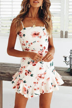 Backless Bowknot  Floral Printed  Sleeveless Bodycon Dress
