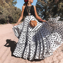 Sexy Dot Wave Point Long Skirt