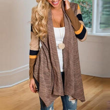 Fashion Early Autumn Pure Color Stripe Cardigan