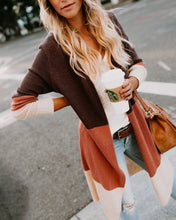 Fashion Color Long Knitted Cardigan