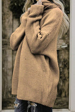 Cowl Neck  Loose Fitting  Plain Sweaters