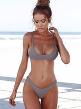 Dovechic Sexy Solid Tight Bikinis Swimwear