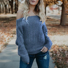 Casual Off-Shoulder Long Sleeve Sweater