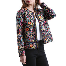 Fashion Printed Short Slim Coat