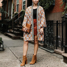 Vintage Loose Floral Printed Long Coat