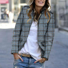 Fashion Plaid Double-Breasted Coat