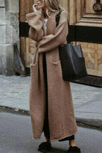 Fashion Casual Thicken Wide Lapel Oversize Long Plain Coat